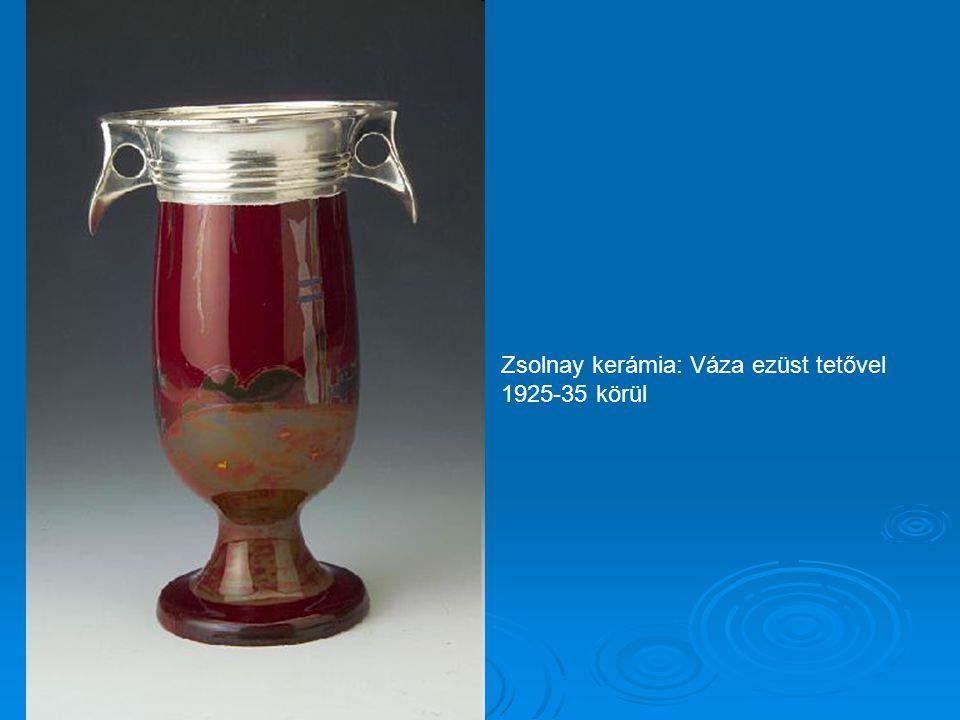 Zsolnay kerámia: Dísztál figurális férfi és női alakkal 1910 körül M: 25 cm hossz 34 cm magasság