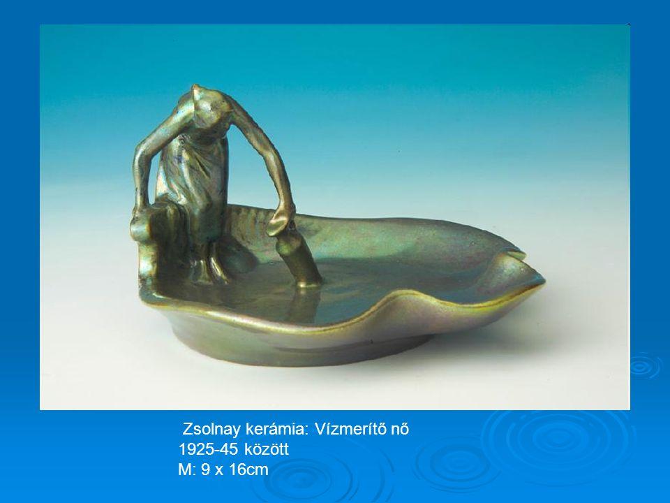 Zsolnay kerámia: Váza ezüst tetővel 1925-35 körül
