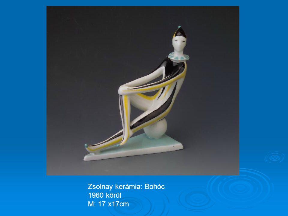 Zsolnay kerámia: Furulyázó 1966 M: 21cm