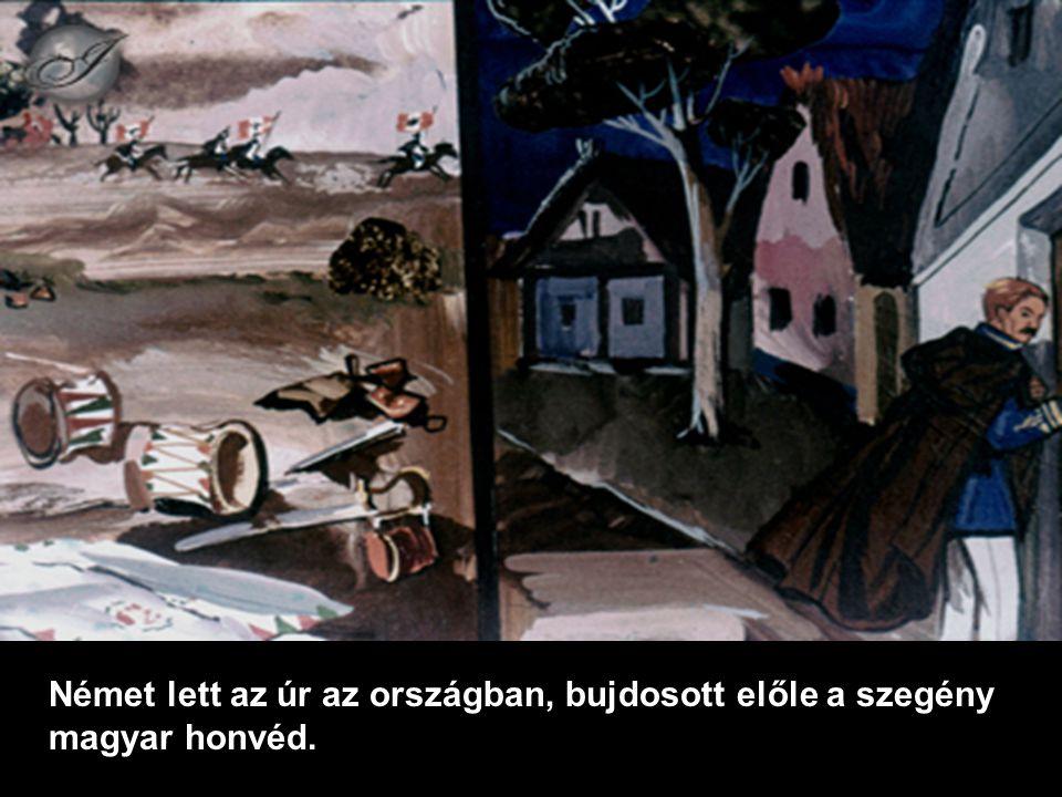 Német lett az úr az országban, bujdosott előle a szegény magyar honvéd.