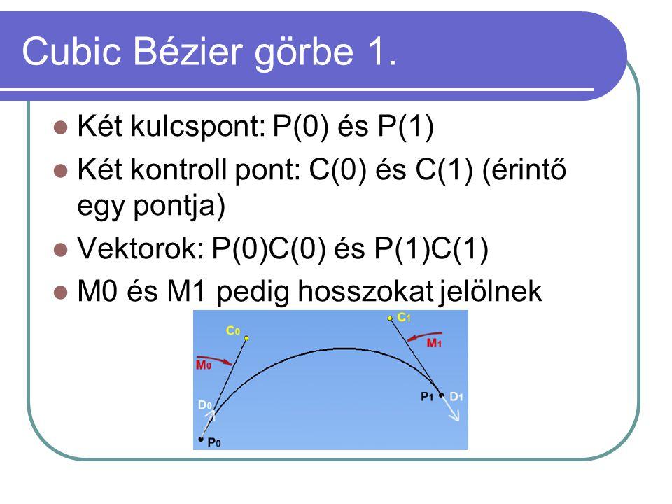 Cubic Bézier görbe 1.
