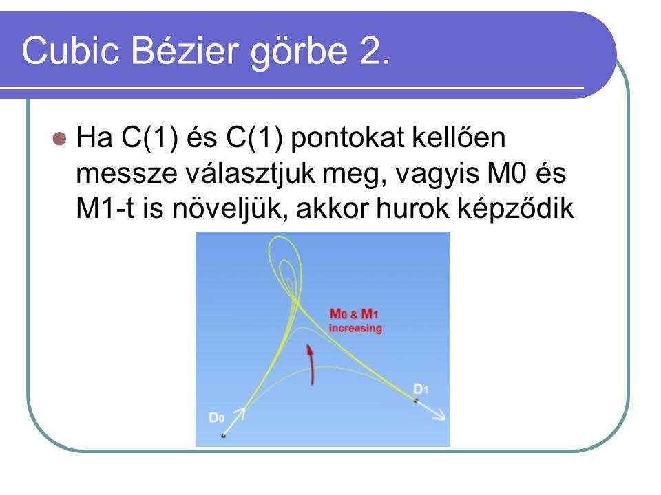 Cubic Bézier görbe 2.