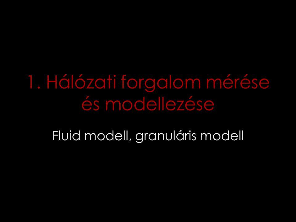 1. Hálózati forgalom mérése és modellezése Fluid modell, granuláris modell