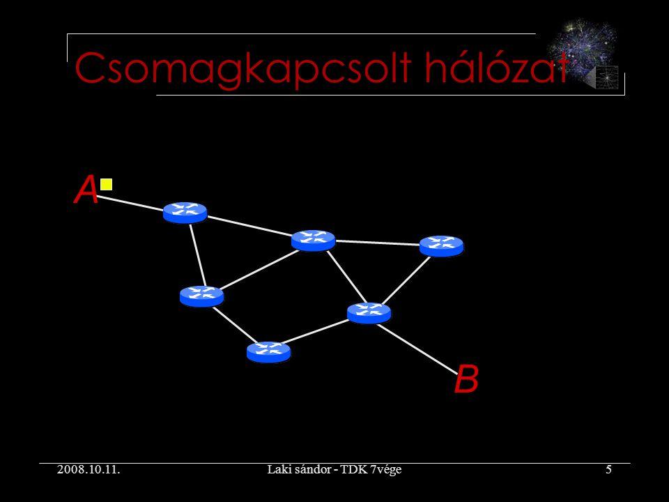 2008.10.11.Laki sándor - TDK 7vége5 Csomagkapcsolt hálózat A B
