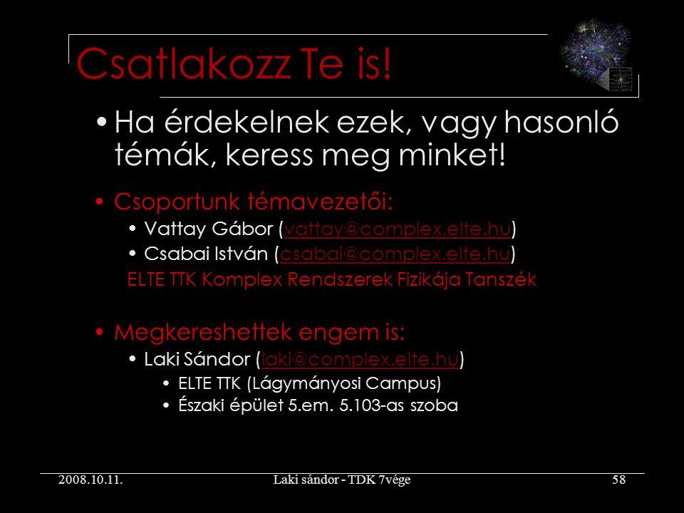 2008.10.11.Laki sándor - TDK 7vége58 Ha érdekelnek ezek, vagy hasonló témák, keress meg minket.