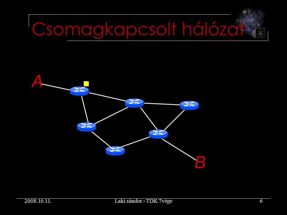 2008.10.11.Laki sándor - TDK 7vége6 Csomagkapcsolt hálózat A B