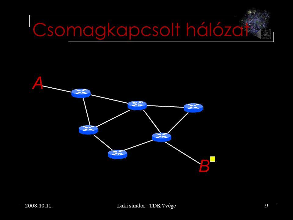 2008.10.11.Laki sándor - TDK 7vége9 Csomagkapcsolt hálózat A B