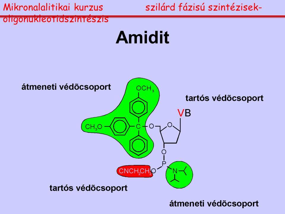Amidit Mikronalalitikai kurzusszilárd fázisú szintézisek- oligonukleotidszintészis