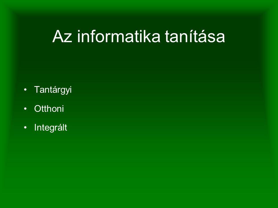 Az informatika tanítása Tantárgyi Otthoni Integrált