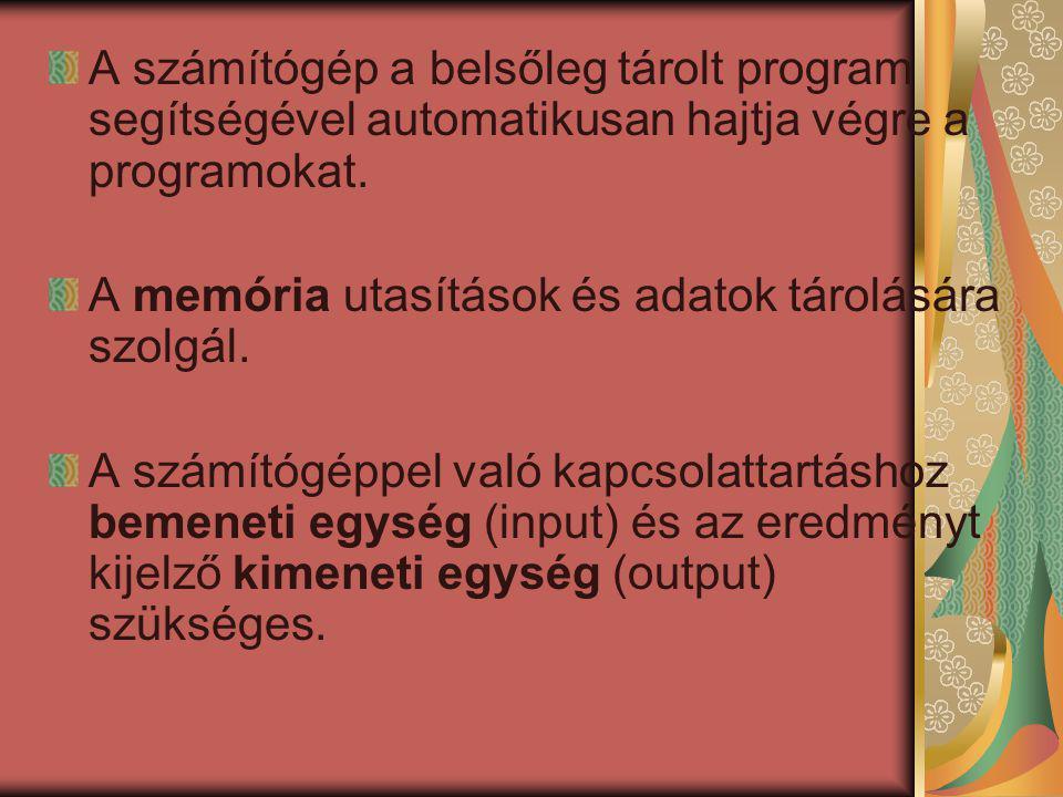 A házban található alkatrészek : - processzor - alaplap - memória - háttértárak - tápegység - bővítőkártyák