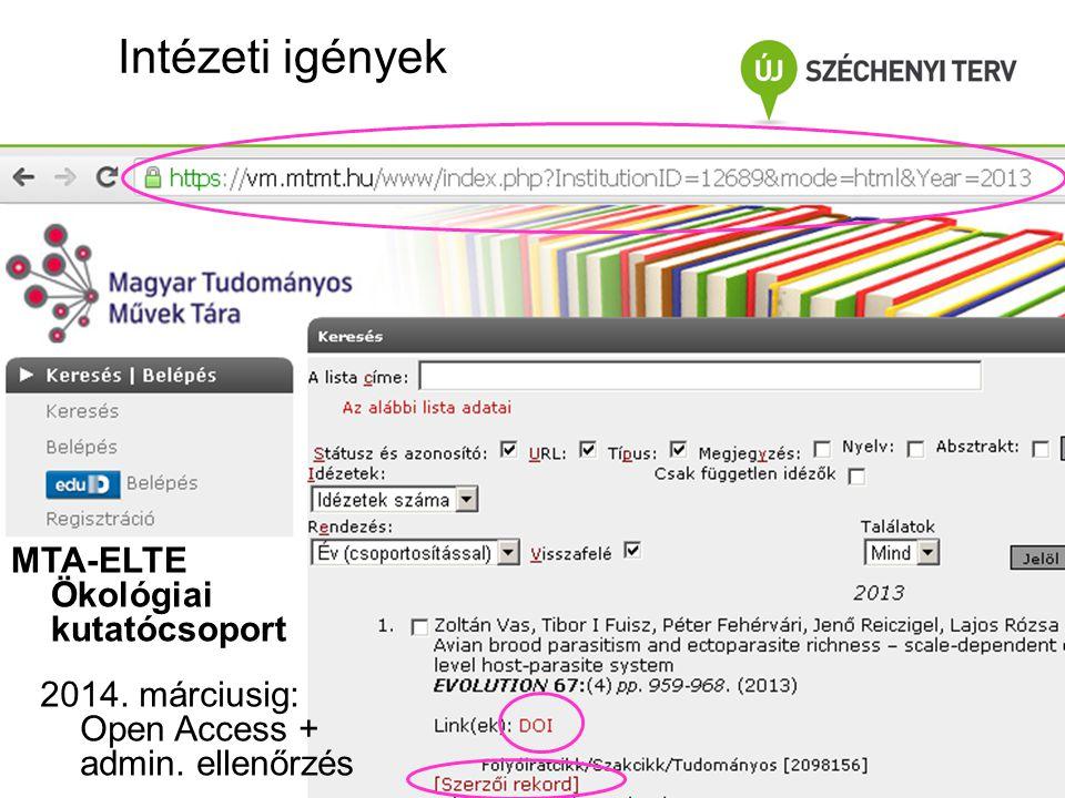 Beviteli folyamat 2.Import: Web of Science letöltés (WoS) 2.