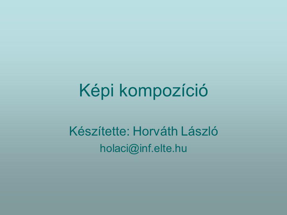 Kompozíciós elvek Komponálás céljai:  Szemlélő figyelmének irányítása  Szemlélés nehézségeinek csökkentése  Harmónia megteremtése (rend a változatosságban)