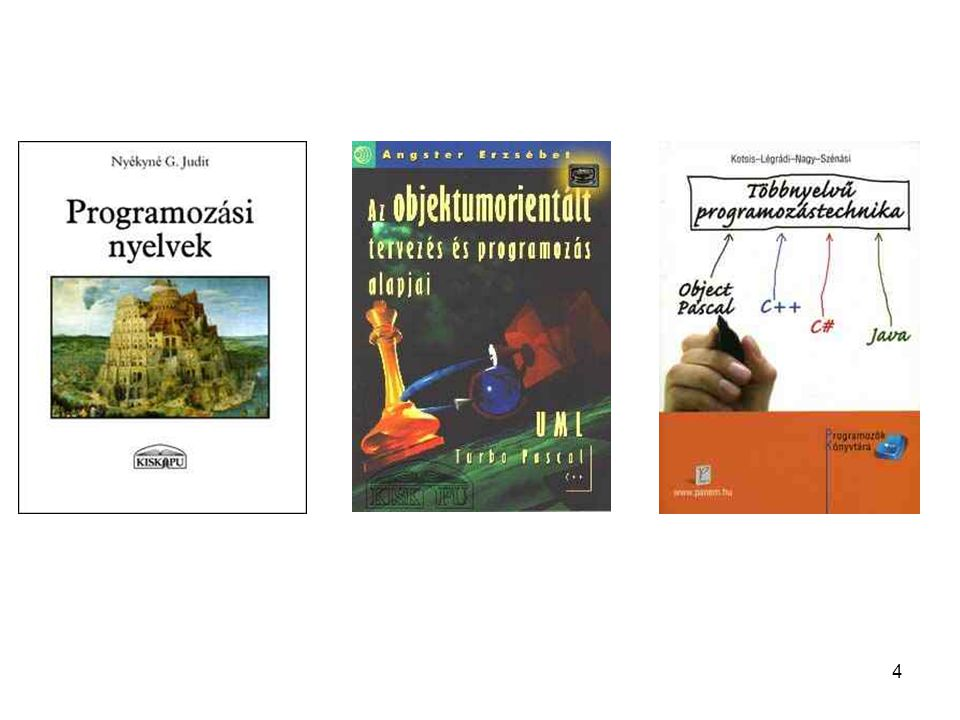 5 Objektumorientált programozás a Programozási nyelvek könyv 12.