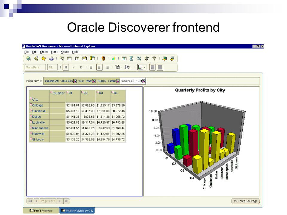 Oracle Discoverer frontend