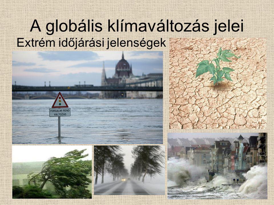 A globális klímaváltozás jelei Extrém időjárási jelenségek