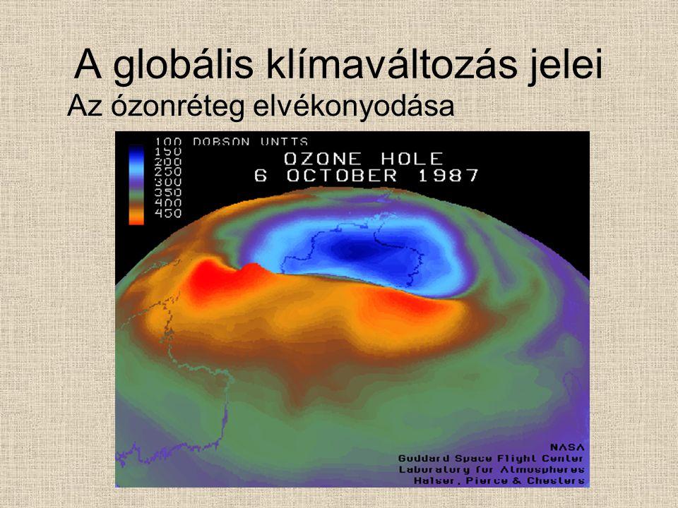 A globális klímaváltozás jelei Az ózonréteg elvékonyodása
