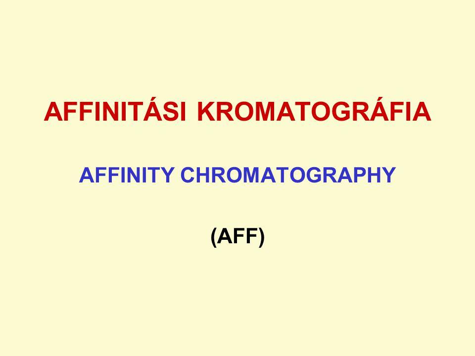 AFFINITÁSI KROMATOGRÁFIA AFFINITY CHROMATOGRAPHY (AFF)
