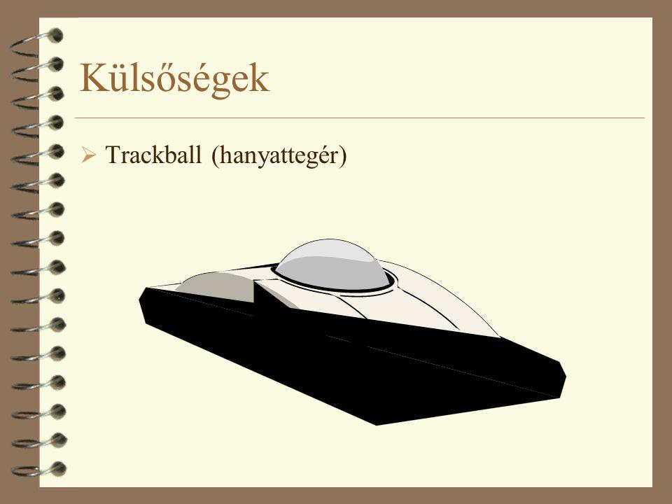 Külsőségek  Trackball (hanyattegér)