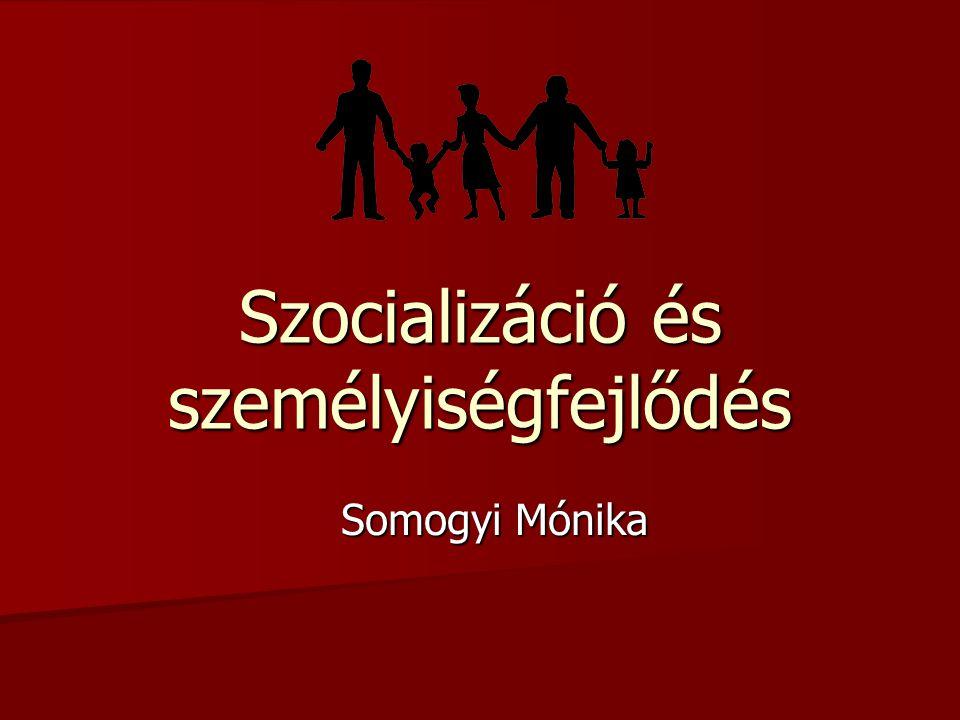 Szocializáció és személyiségfejlődés Somogyi Mónika
