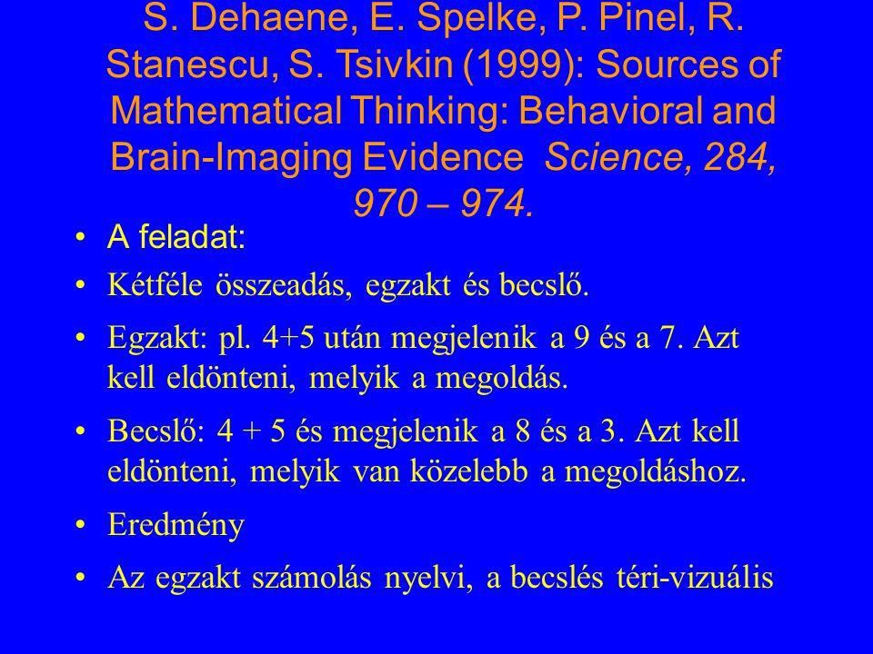 A feladat: Kétféle összeadás, egzakt és becslő. Egzakt: pl. 4+5 után megjelenik a 9 és a 7. Azt kell eldönteni, melyik a megoldás. Becslő: 4 + 5 és me