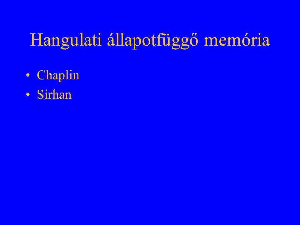 Hangulati állapotfüggő memória Chaplin Sirhan