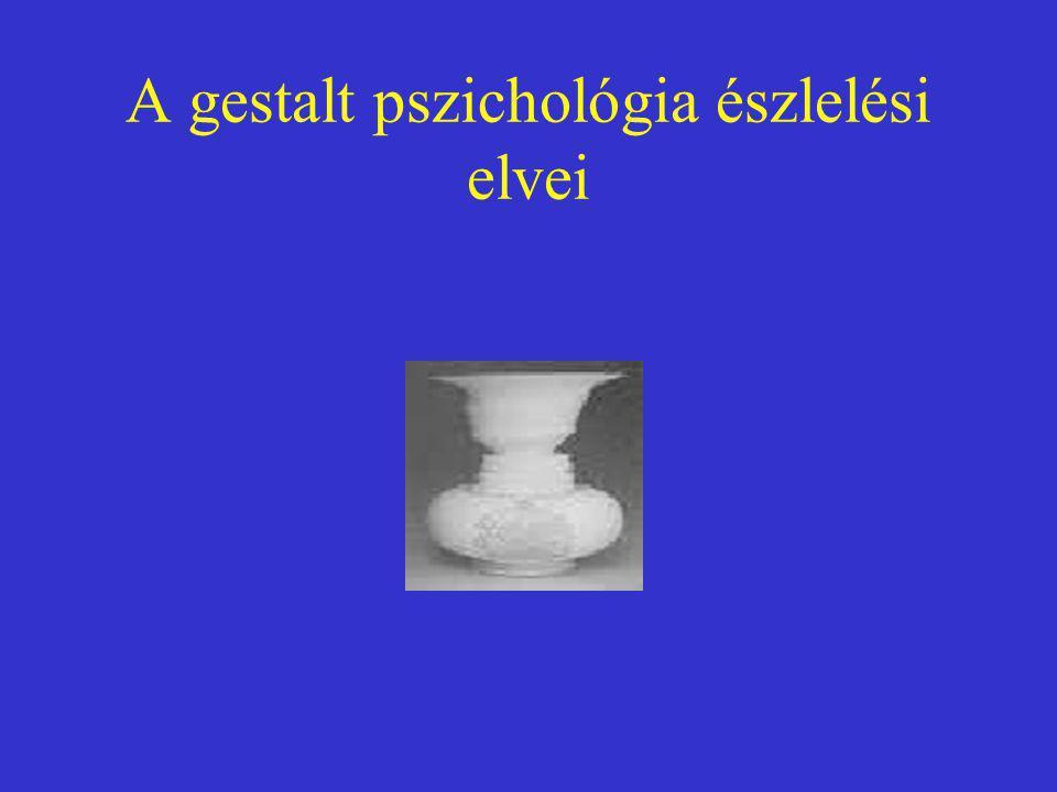 A gestalt pszichológia észlelési elvei