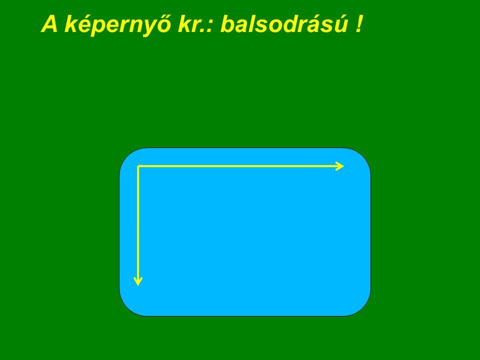A képernyő kr + mélység: jobbos