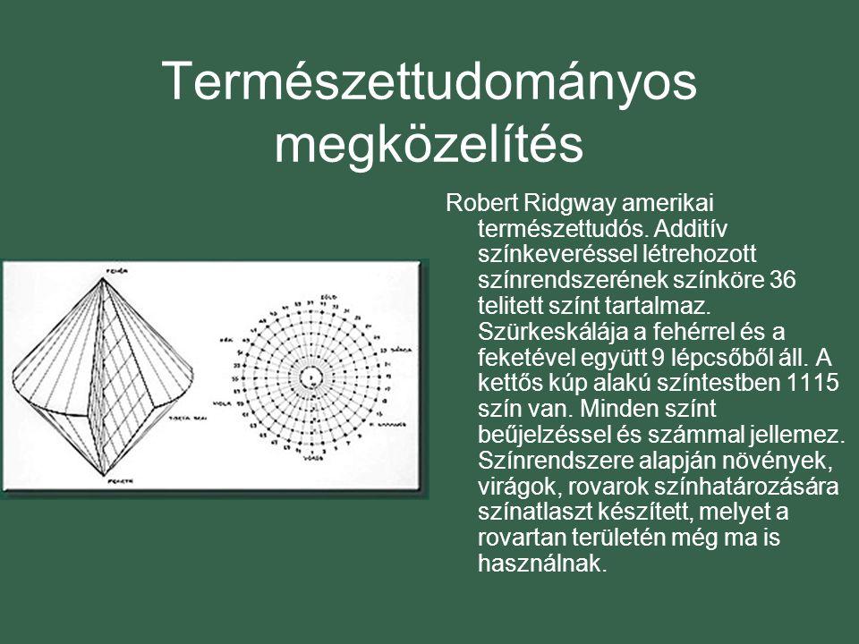Természettudományos megközelítés Robert Ridgway amerikai természettudós.