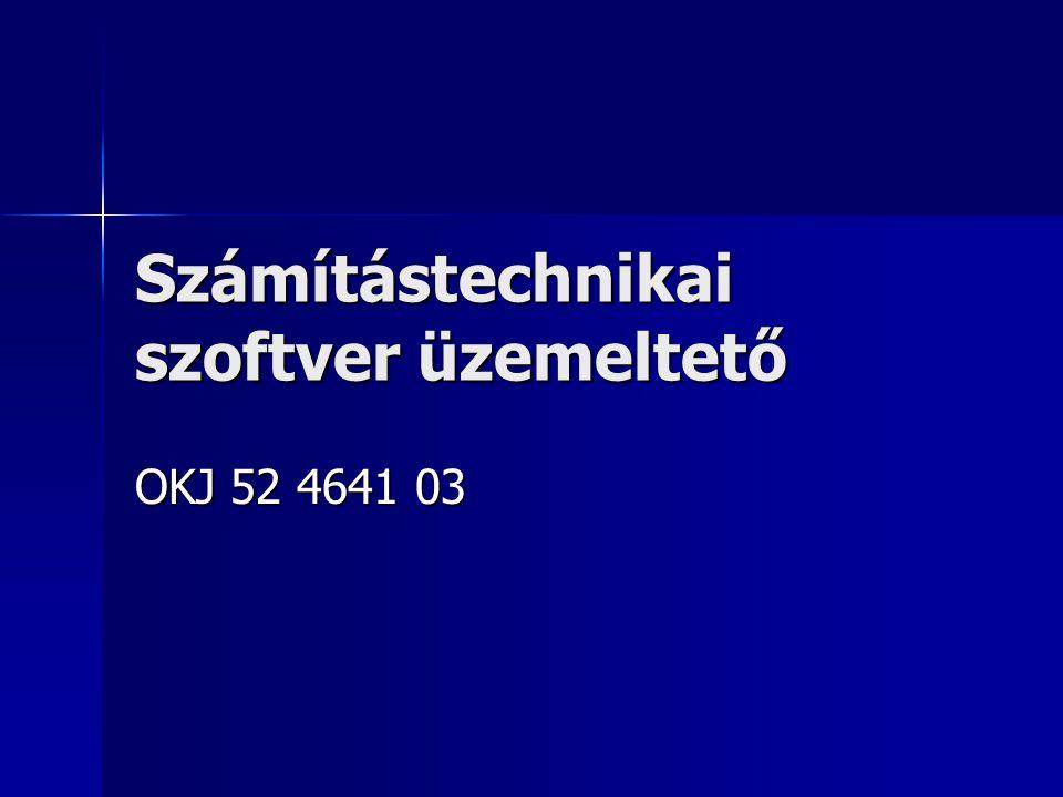 Számítástechnikai szoftver üzemeltető OKJ 52 4641 03