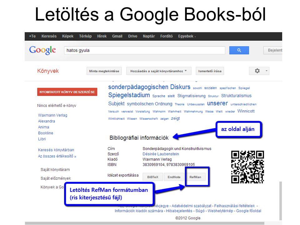 Letöltés a Google Books-ból