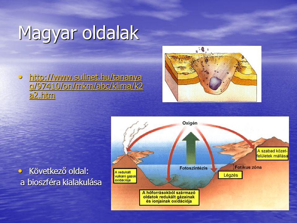 Magyar oldalak http://www.sulinet.hu/tananya g/97410/on/mkm/abc/klima/k2 a2.htm http://www.sulinet.hu/tananya g/97410/on/mkm/abc/klima/k2 a2.htm http: