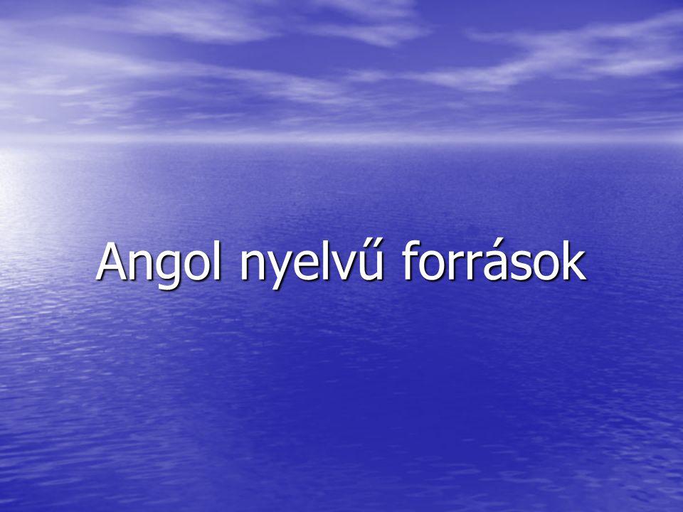 Angol nyelvű források