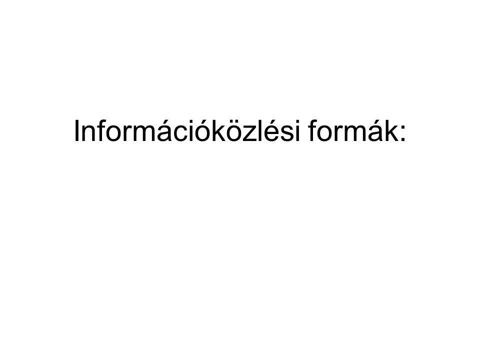 Információközlési formák: