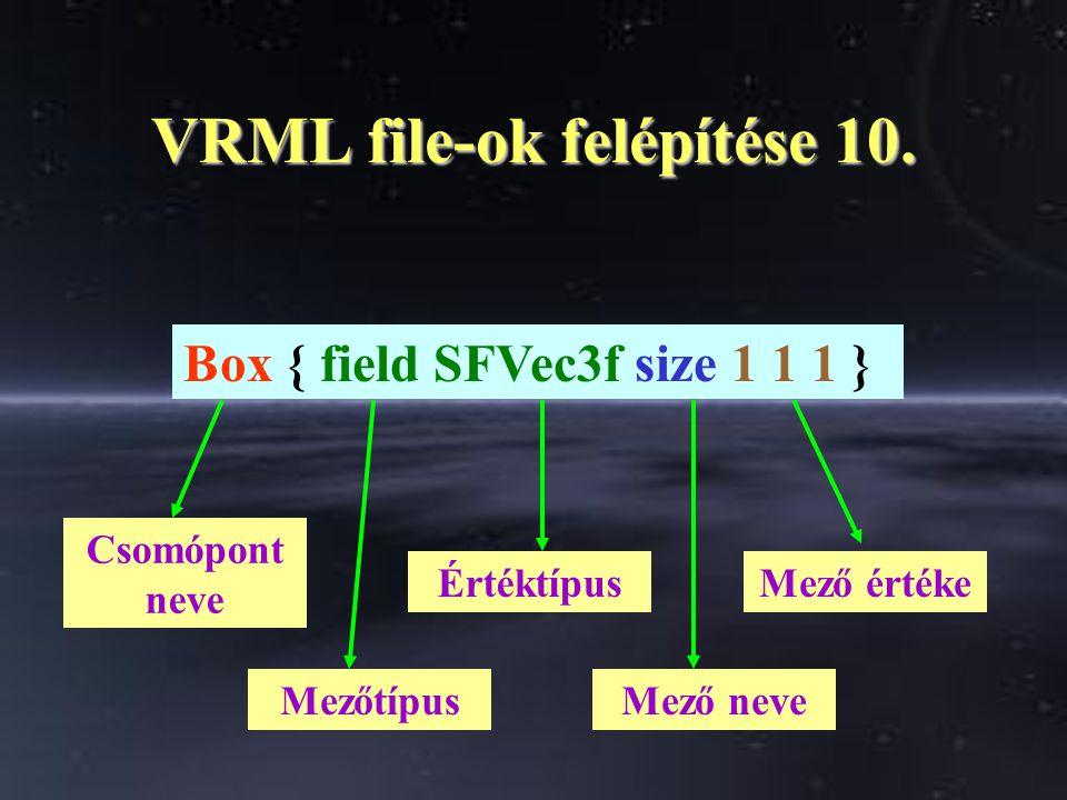 VRML file-ok felépítése 10.