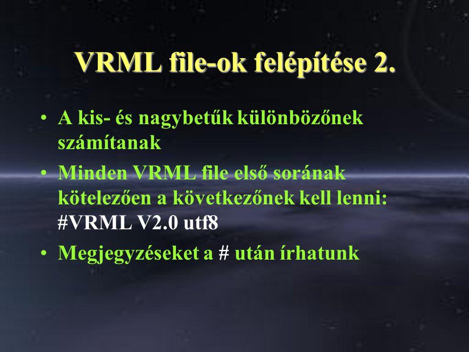 VRML file-ok felépítése 2.