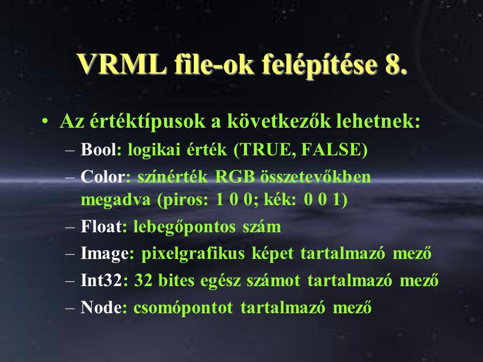 VRML file-ok felépítése 8.
