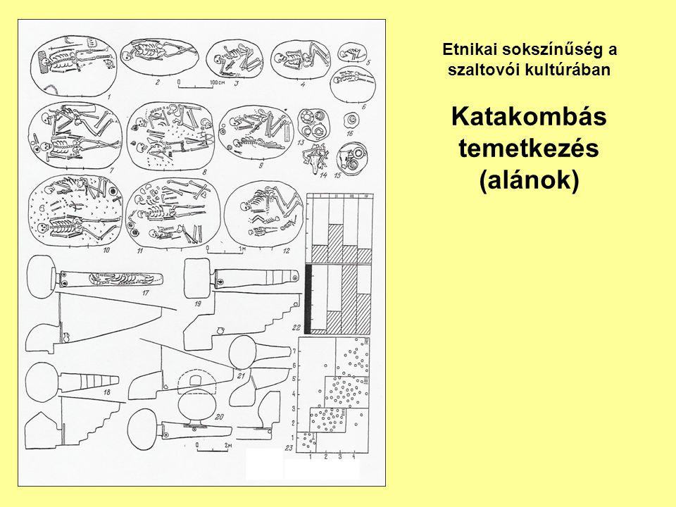 Katakombás temetkezés (alánok) Etnikai sokszínűség a szaltovói kultúrában