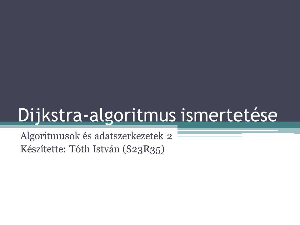 Dijkstra-algoritmus ismertetése Algoritmusok és adatszerkezetek 2 Készítette: Tóth István (S23R35)