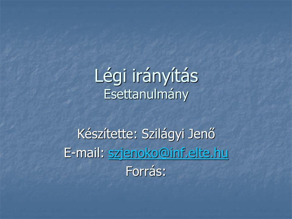 Légi irányítás Esettanulmány Készítette: Szilágyi Jenő E-mail: szjenoko@inf.elte.hu szjenoko@inf.elte.hu Forrás: