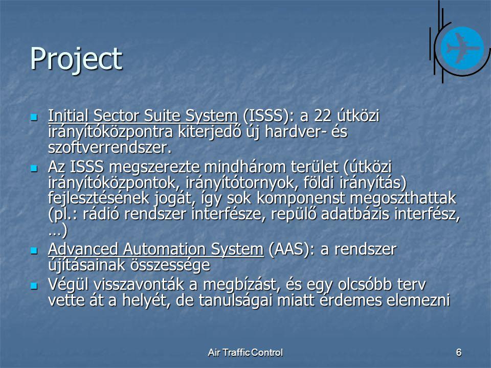 Air Traffic Control6 Project Initial Sector Suite System (ISSS): a 22 útközi irányítóközpontra kiterjedő új hardver- és szoftverrendszer.