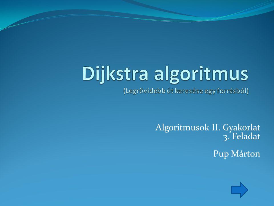 Algoritmusok II. Gyakorlat 3. Feladat Pup Márton