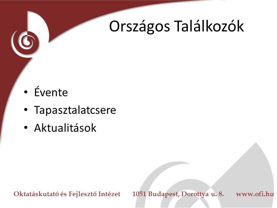 Oktatáskutató és Fejlesztő Intézet 1051 Budapest, Dorottya u. 8. www.ofi.hu www.okoiskola.hu Hírlevél Segédanyagok Háttéranyagok Események