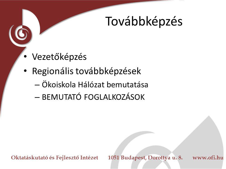 Oktatáskutató és Fejlesztő Intézet 1051 Budapest, Dorottya u. 8. www.ofi.hu Országos Találkozók Évente Tapasztalatcsere Aktualitások