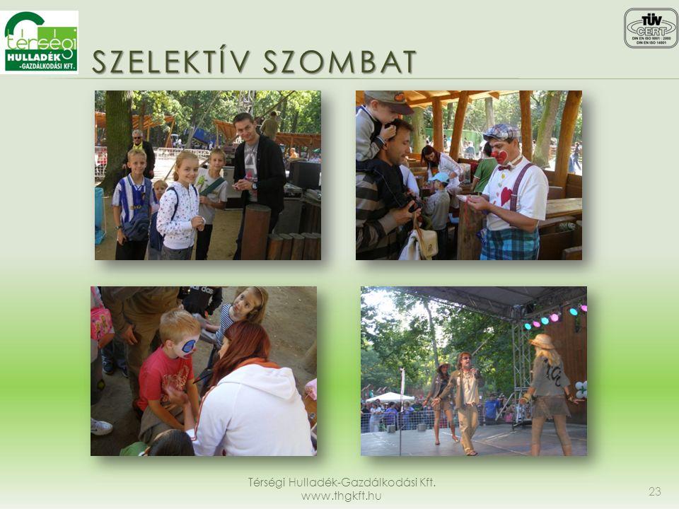 SZELEKTÍV SZOMBAT Térségi Hulladék-Gazdálkodási Kft. www.thgkft.hu 23