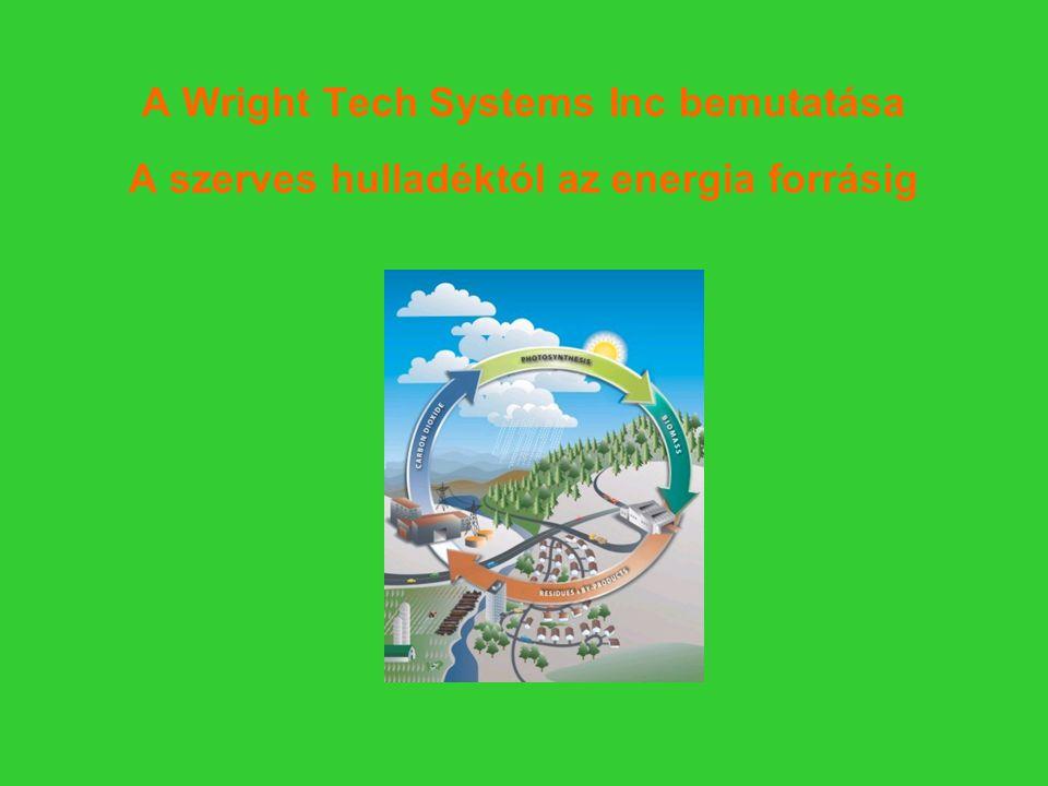 A Wright Tech Systems Inc bemutatása A szerves hulladéktól az energia forrásig