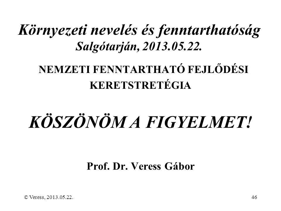 Környezeti nevelés és fenntarthatóság Salgótarján, 2013.05.22.
