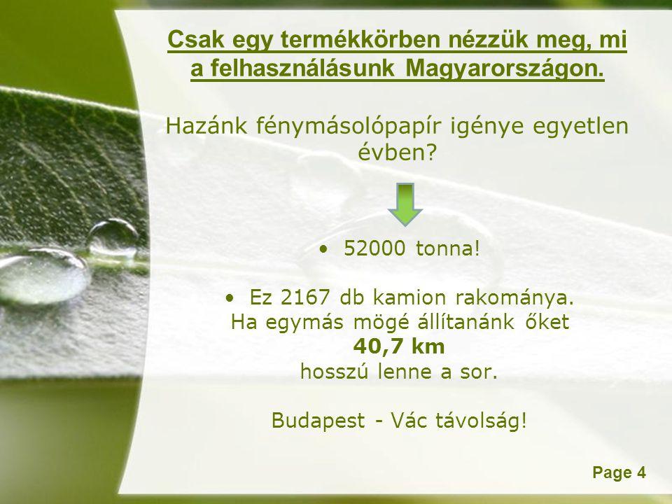 Powerpoint TemplatesPage 4 Csak egy termékkörben nézzük meg, mi a felhasználásunk Magyarországon.