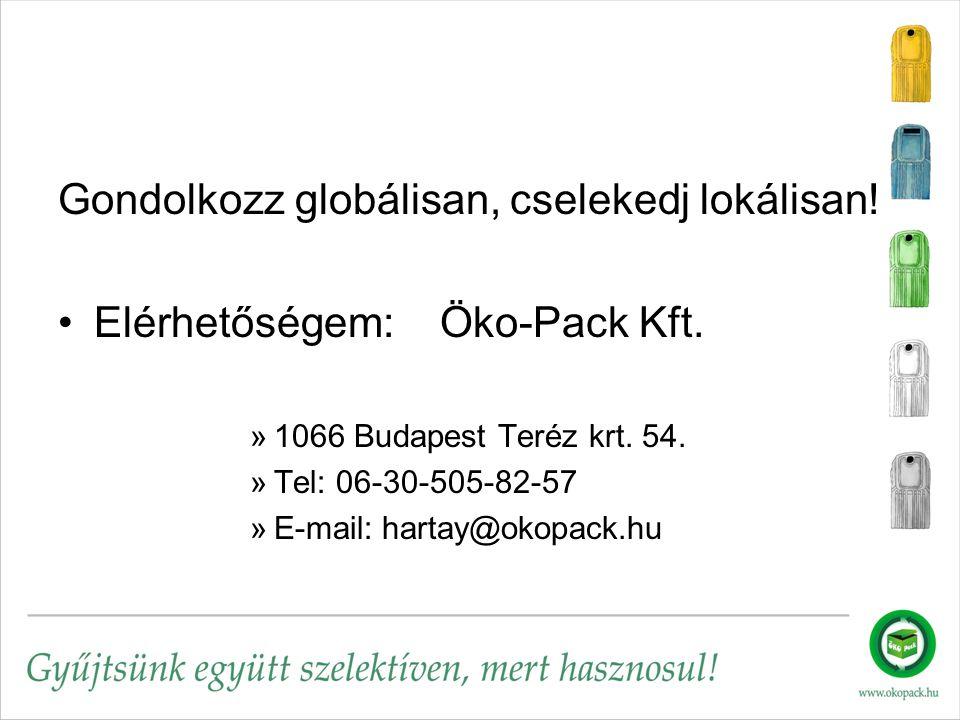 Gondolkozz globálisan, cselekedj lokálisan. Elérhetőségem: Öko-Pack Kft.