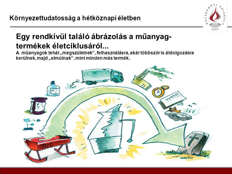 """10 Környezettudatosság a hétköznapi életben Egy rendkívül találó ábrázolás a műanyag- termékek életciklusáról... A műanyagok tehát """"megszületnek"""", fel"""