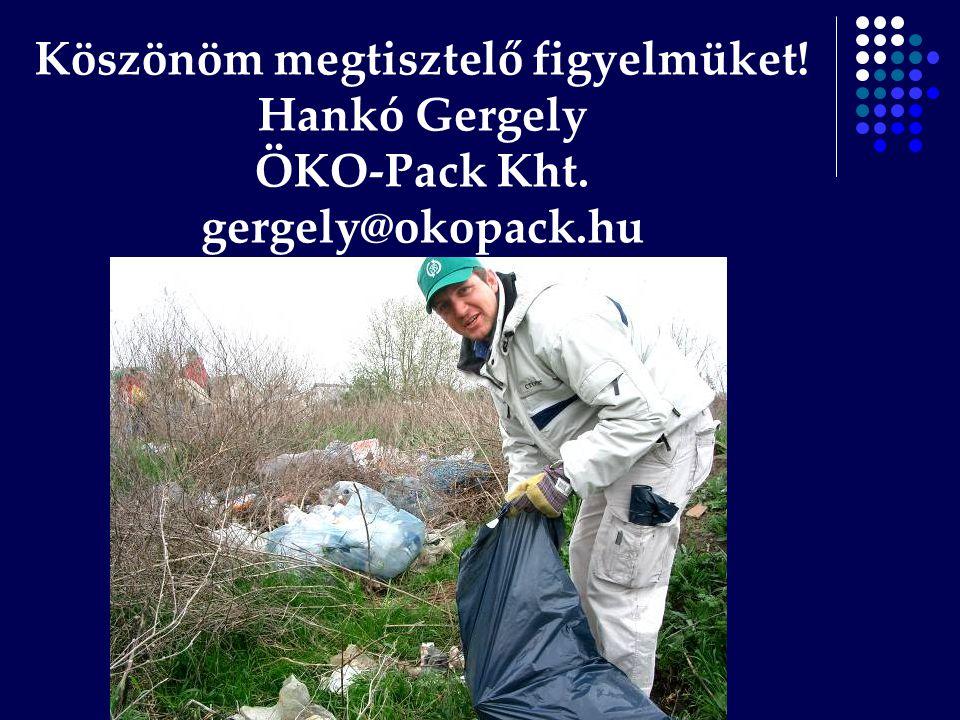 Köszönöm megtisztelő figyelmüket! Hankó Gergely ÖKO-Pack Kht. gergely@okopack.hu